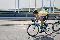 Primoz Roglic (SVK/LottoNL-Jumbo) setting the pace himself in front of the peloton <br /> <br /> Ster ZLM Tour (2.1)<br /> Stage 2: Tholen &gt; Hoogerheide (186.8km)