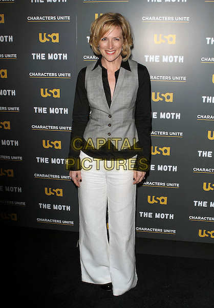 Kirsten Nelson.USA Network and The Moth's Characters Unite Storytelling Event Held At Pacific Design Center, West Hollywood, California, USA..January 15th, 2012.full length white trousers grey gray black waistcoat .CAP/ADM/KB.©Kevan Brooks/AdMedia/Capital Pictures.