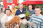 MARKET: Maurice Hannon, David McCaffery, Steve Baker, Peter Keane and James O'Doherty, pictured at the Farmers market in Tralee on Thursday.