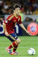 KIEV, UCRANIA, 01 JULHO 2012 - EU2012 FINAL - ESPANHA X ITALIA - David Silva jogador da Espanha durante partida contra a Italia na decisão da Euro 2012 entre Espanha e Itália, em Kiev, Ucrânia, neste domingo (01).  (FOTO: PIXATHLON / BRAZIL PHOTO PRESS).