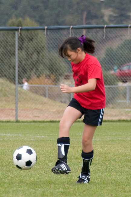 kids, soccer, co-ed, recreation, sport, game, teen, tween, action, fall, morning, Estes Park, Colorado, USA