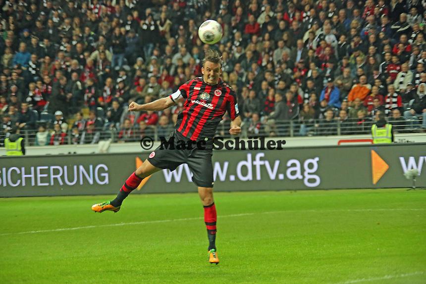 Kopfball Alex Meier (Eintracht) - Eintracht Frankfurt vs. VfL Wolfsburg, Commerzbank Arena