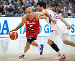 Kosarka FIBA Olympic Basketball Qualifying Tournament-FINAL<br /> Serbia v Puerto Rico<br /> Carlos Arroyo (L) and Milos Teodosic<br /> Beograd, 09.07.2016.<br /> foto: Srdjan Stevanovic/Starsportphoto&copy;
