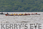 The Muckross A crew move ahead of the Workmens crew to win the Senior Women race at the Killarney Regatta on Sunday