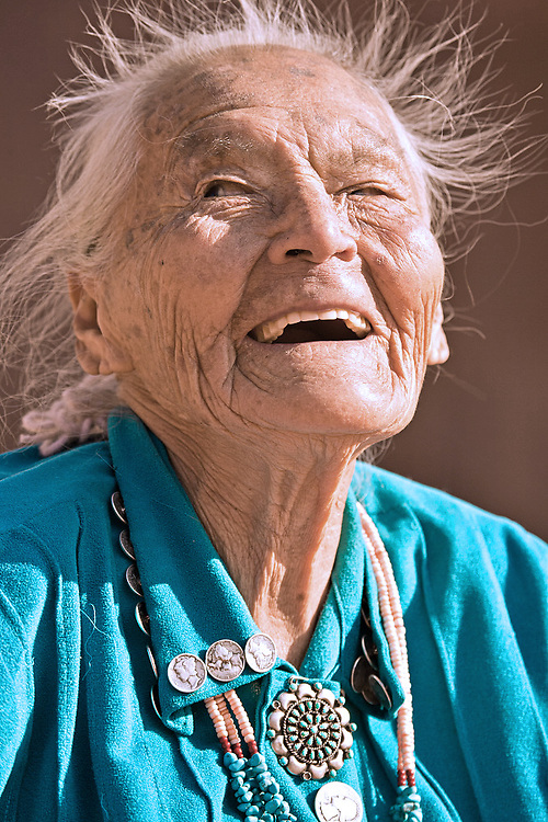 Portrait of Navajo woman, Susie Yazzie