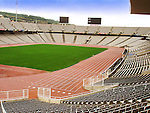 Olympic Stadium - Estadi Olimpic de Montjuic in Barcelona. .It was originally built in 1927 for the 1929 Expo. Barcelona's bid for the 1936 Summer Olympics, which were awarded to Berlin. The stadium was rebuilt in 1989 as the main stadium for the 1992 Summer Olympics.