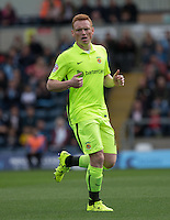 Michael Woods of Hartlepool United during the Sky Bet League 2 match between Wycombe Wanderers and Hartlepool United at Adams Park, High Wycombe, England on 5 September 2015. Photo by Andy Rowland.