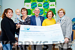 The organisers of the Jamie Wrenn&Mike Deane annual memorial walk from Tralee to Castlegregory, which took place last July, chose the Recovery Haven, Killerisk, Tralee, to benefit the 15,126 euro that it collected. Pictured at the cheque presentation at the centre last Thursday October 4th are L-R Sandra Finn, organiser, little Rory O'Mahony, Mary Lynch, organiser, Dermot Crowley, Marian Barnes&Maureen O' Brien all Recovery Haven.