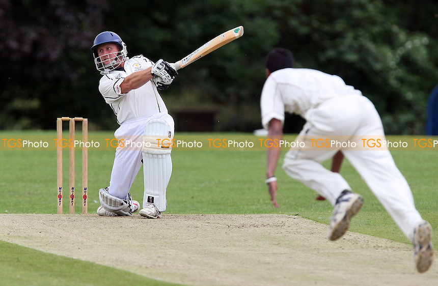Roy Smith of Ardleigh Green holes out off of a Jahid Ahmed delivery - Ardleigh Green CC vs Brentwood CC - Essex Cricket League - 13/06/09 - MANDATORY CREDIT: Gavin Ellis/TGSPHOTO - Self billing applies where appropriate - 0845 094 6026 - contact@tgsphoto.co.uk - NO UNPAID USE.