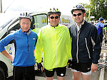 Paul Carey, Ivor Martin and Brian Keenan who took part in the Ardee Cycle club Mystery cycle tour. Photo: Colin Bell/pressphotos.ie