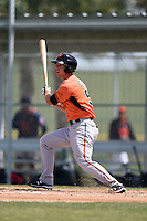 Baltimore Orioles Drew Dosch (51) during a minor league spring training game against the Minnesota Twins on March 28, 2015 at the Buck O'Neil Complex in Sarasota, Florida.  (Mike Janes/Four Seam Images)