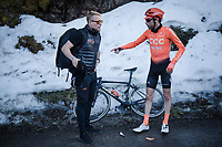 Laurens TEN DAM (NED/CCC) post-finish<br /> <br /> Stage 7: Nice to Col de Turini (181km)<br /> 77th Paris - Nice 2019 (2.UWT)<br /> <br /> ©kramon