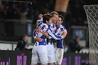 VOETBAL: HEERENVEEN: Abe Lenstra Stadion, 07-02-2015, Eredivisie, sc Heerenveen - PEC Zwolle, Eindstand: 4-0, Marten de Roon (#15), Henk Veerman (#20), Mark Uth (#19), ©foto Martin de Jong