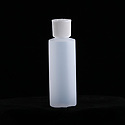 Recyclable 4-oz squeeze bottle container for liquids, empty