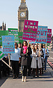 Pics show:.Alesha Dixon leading a Walk of Hope to Parliament with domestic violence survivors, families of victims and campaigners, on the lead up to International Women's Day. Avon, Refuge and Women's Aid are launching their new campaign called 'Speaking Out In Her Name'. The walk will begin over Westminster Bridge.....Pic by Gavin Rodgers/Pixel 8000 Ltd