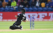 Jun 6th, The SSE SWALEC, Cardiff, Wales; ICC Champions Trophy; England versus New Zealand; Kane Williamson of New Zealand plays an unconventional shot for 4