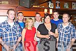 Donie Lynch, Conor Harty, Laura Lynch, Pat Murphy, Rebecca Griffin, Donie Roche and John Fitzgerald Killarney in Scruffy's bar, Killarney on New Year's Eve.