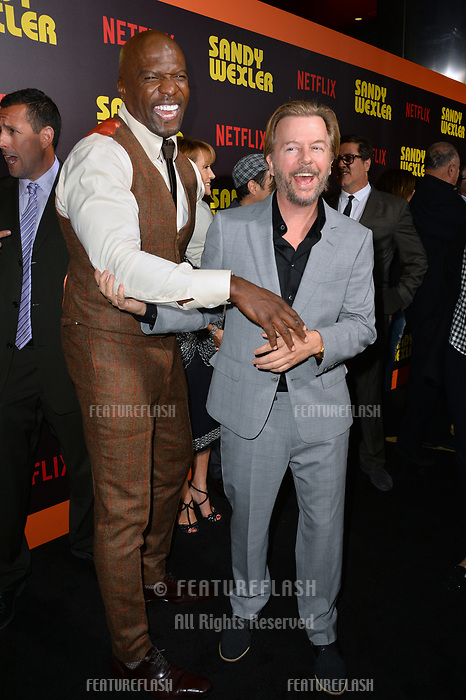 Terry Crews &amp; David Spade at the premiere for &quot;Sandy Wexler&quot; at The Cinerama Dome. Los Angeles, USA 06 April  2017<br /> Picture: Paul Smith/Featureflash/SilverHub 0208 004 5359 sales@silverhubmedia.com