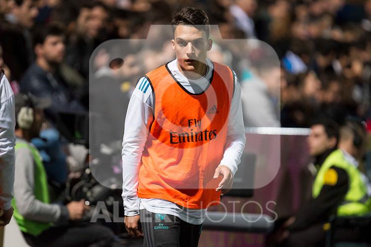 Real Madrid Luismi Quezada during Copa del Rey match between Fuenlabrada and Real Madrid at Fernando Torres Stadium in Madrid, Spain. October 26, 2017. (ALTERPHOTOS/Borja B.Hojas)
