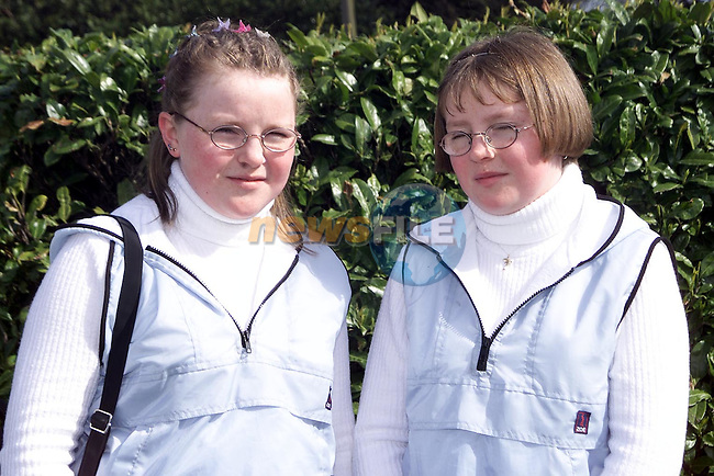 Leona and Louise Marron from Artherstown who were confirmed in Reaghstown Church..Picture Paul Mohan Newsfile