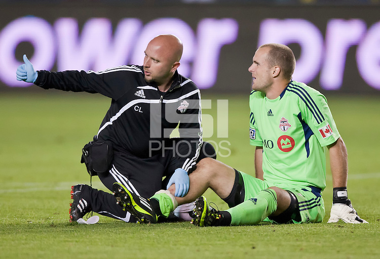 CARSON, CA – June 11, 2011: Toronto FC goalie Stefan Frei (24)  during the match between LA Galaxy and Toronto FC at the Home Depot Center in Carson, California. Final score LA Galaxy 2, Toronto FC 2.