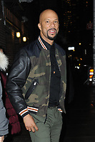 www.acepixs.com<br /> January 8, 2018 New York City<br /> <br /> Common arriving to tape an appearance on 'The Late Show with Stephen Colbert' on January 8, 2018 in New York City.<br /> <br /> Credit: Kristin Callahan/ACE Pictures<br /> <br /> Tel: (646) 769 0430<br /> e-mail: info@acepixs.com