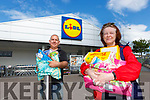 Norma Bartlett and Derry Joy whose messages were paid for by a random act of kindness of a stranger in LIDL supermarket in Killarney