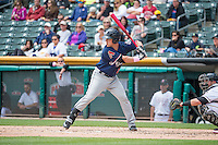 Blake Lalli (21) of the Reno Aces at bat against the Salt Lake Bees in Pacific Coast League action at Smith's Ballpark on May 10, 2015 in Salt Lake City, Utah.  Salt Lake defeated Reno 9-2 in Game One of the double-header. (Stephen Smith/Four Seam Images)