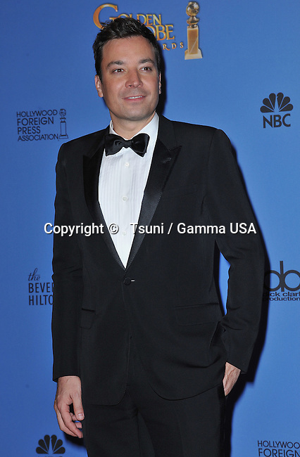 Jimmy Fallon 261 at the Press Room of the 2014 Golden Globe at the Beverly Hilton, Los Angeles