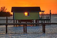 Sunset through window, Bradenton, Florida