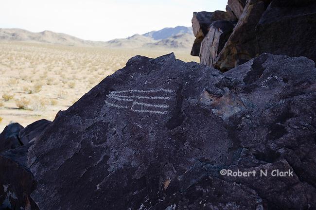 Indian Petroglyphs in the Mojave Desert