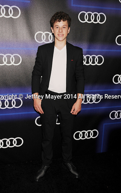 LOS ANGELES, CA- AUGUST 21: Actor Nolan Gould arrives at the Audi Emmy Week Celebration at Cecconi's Restaurant on August 21, 2014 in Los Angeles, California.