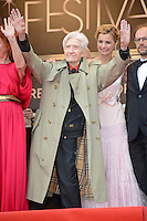 "Alain Resnais, Anne Consigny and Denis Podalydes attending the ""vous n avez encore rien vu (You ain t seen nothin yet)"" Premiere during the 65th annual International Cannes Film Festival in Cannes, 21th May 2012...Credit: Timm/face to face /MediaPunch Inc. ***FOR USA ONLY***"