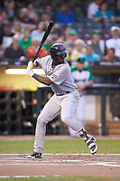 Emilio Gustave (13) of the Bowling Green Hot Rods at bat against the Dayton Dragons at Fifth Third Field on June 8, 2018 in Dayton, Ohio. The Hot Rods defeated the Dragons 11-4.  (Brian Westerholt/Four Seam Images)