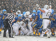 Philadelphia, PA - December 9, 2017:   Army Black Knights running back Darnell Woolfolk (33) scores a touchdown  during the 118th game between Army vs Navy at Lincoln Financial Field in Philadelphia, PA. (Photo by Elliott Brown/Media Images International)