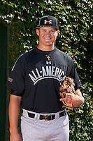 Pitcher Tyler Kolek (34) of Shepherd, Texas poses for a photo before the Under Armour All-American Game on August 24, 2013 at Wrigley Field in Chicago, Illinois.  (Mike Janes/Four Seam Images)
