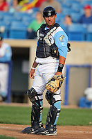 Wilmington Blue Rocks catcher Juan Graterol #24 during a game against the Lynchburg Hillcats at Frawley Stadium on May 3, 2011 in Wilmington, Delaware.  Lynchburg defeated Wilmington by the score of 11-1.  Photo By Mike Janes/Four Seam Images