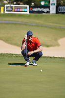 Chris Wood (ENG) during Round 1 of the Portugal Masters, Dom Pedro Victoria Golf Course, Vilamoura, Vilamoura, Portugal, 24/10/2019<br /> Picture Andy Crook / Golffile.ie<br /> <br /> All photo usage must carry mandatory copyright credit (© Golffile | Andy Crook)