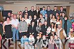 NEW ARRIVAL: Stacey Lawlor and John Bowler, Blennerville, Tralee (seated 2nd & 3rd left) celebrated the Christening of their baby son Jamie with a party in the Kerins O'Rahilly's GAA clubhouse last Saturday evening with their family and friends.   Copyright Kerry's Eye 2008