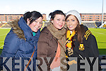 Pictured at the Dr Crokes match in Portlaoise on Saturday, from left: Sheree Murphy, Siobhan McAllister and Ella O'Donoghue, all from Killarney..