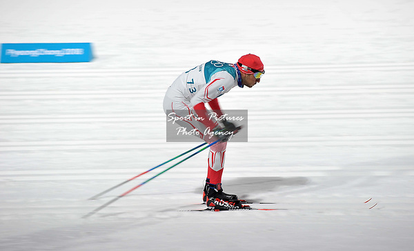 Hamza Dursun (TUR). Mens sprint classic qualification. Cross country skiing. Alpensia Croos-Country skiing centre. Pyeongchang2018 winter Olympics. Alpensia. Republic of Korea. 13/02/2018. ~ MANDATORY CREDIT Garry Bowden/SIPPA - NO UNAUTHORISED USE - +44 7837 394578