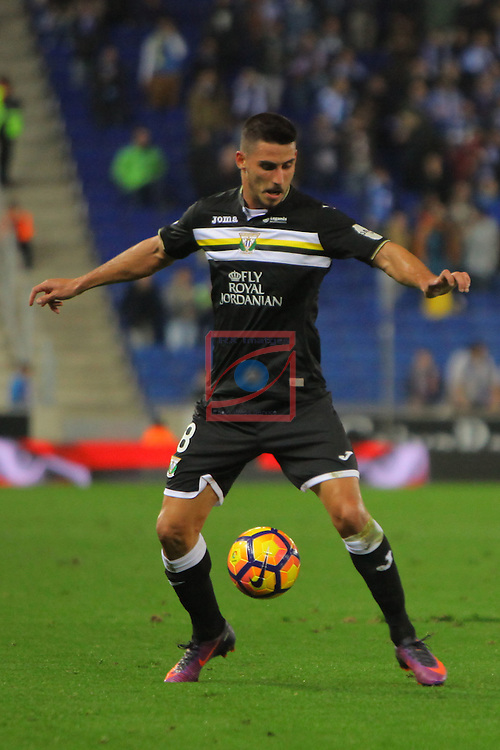League Santander 2016/2017. Game: 13.<br /> RCD Espanyol vs CD Leganes: 3-0.<br /> Gabriel.