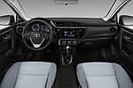 Stock photo of straight dashboard view of a 2017 Toyota Corolla L 4 Door Sedan