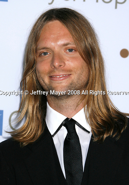 SANTA MONICA, CA. - October 15: Recording artist James Valentine of Maroon 5 arrives on the Red Carpet of the 2008 Spirit Of Life Award Dinner on October 15, 2008 in Santa Monica, California.