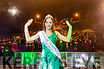 Sinéad Flanagan, Limerick, 2019 Rose of Tralee celebrates in Denny Street on Tuesday night.