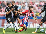 Luciano Vietto (r) of Atletico de Madrid battles for the ball with Gabriel Ivan Mercado of Sevilla FC during the La Liga 2017-18 match between Atletico de Madrid and Sevilla FC at the Wanda Metropolitano on 23 September 2017 in Wanda Metropolitano, Madrid, Spain. Photo by Diego Gonzalez / Power Sport Images