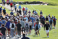 A large gallery follows the play of leader Peter Uihlein (USA)during Round Three at the 2013 ISPS Handa Wales Open from the Celtic Manor Resort, Newport, Wales. Picture:  David Lloyd / www.golffile.ie