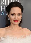 SANTA MONICA, CA - JANUARY 11: Actor/director Angelina Jolie attends The 23rd Annual Critics' Choice Awards at Barker Hangar on January 11, 2018 in Santa Monica, California.