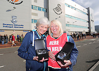 Aard winning customer service employees prior to the Premier League match between Swansea City and Watford at The Liberty Stadium on October 22, 2016 in Swansea, Wales, UK.