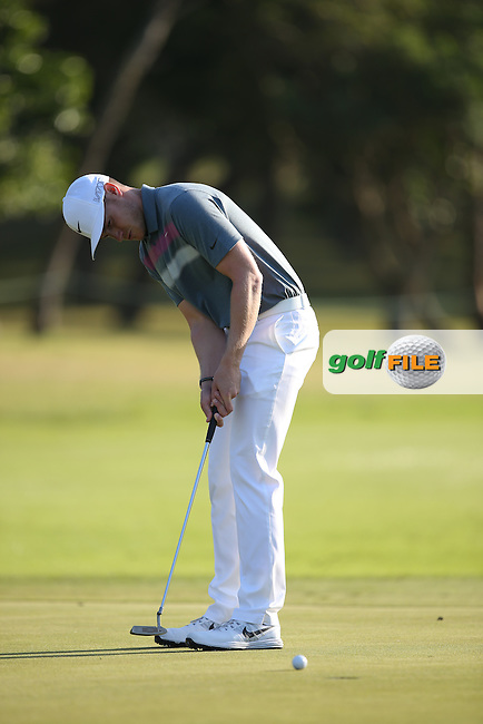 Oliver Fisher (ENG) makes par on the 11th during Round One of the Africa Open 2015 at the East London Golf Club, East London, Eastern Cape, South Africa. Picture:  David Lloyd / www.golffile.ie. 05/03/2015